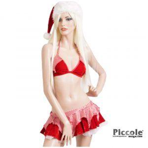 Natale Donna - Costume con Reggiseno e Minigonna