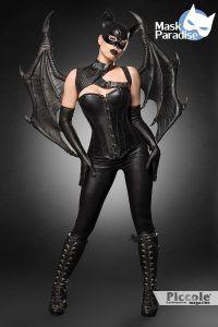 Halloween Donna Costume da Bat Girl Fighter - Mask Paradise