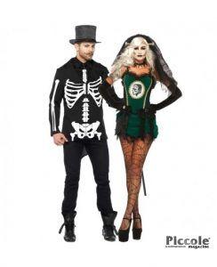 Halloween Coppia - Costume da Frankenstein & Da Scheletro