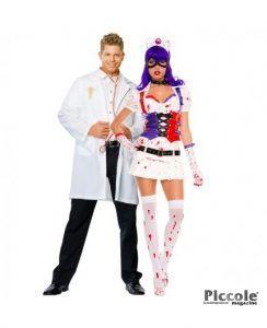 Halloween Coppia - Costume da Dr. Phil Good & Infermiera Dell'Orrore