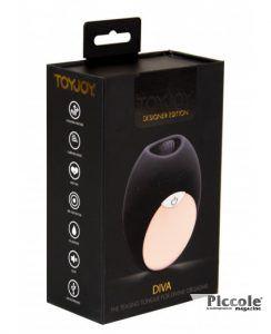 Stimolatore per Clitoride Diva Mini Tongue Black - Toy Joy