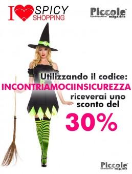 Halloween Donna Costume da Holly Dark Witch - Music Legs