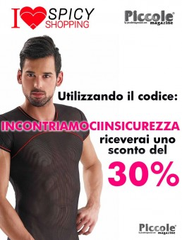 T-Shirt Uomo Maglietta Nera Con Riga Rossa T-Shirt Black - Eros Veneziani