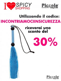 Fruste e Paddle Blue Silicone Flogger Whip - Guilty Pleasure
