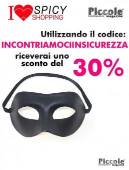 Accessorio Per Halloween Maschera Nera Adjustable Mask - Dorcel