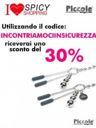 Pesi e Pinze BDSM At My Mercy Chained Nipple Clamps - Fifty Shades Of Grey