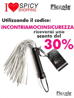 Fruste e Paddle Frustino Ecopelle Argento Please Sir Flogger - Fifty Shades Of Grey