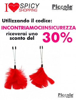 Pinze Per Capezzoli Nipple Clamps With Feathers - Rimba