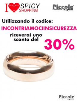 Anello Fallico Steel Love Ring - Fifty Shades Of Grey