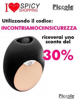Stimolatore Clitoride Diva Mini Tongue Black - Toy Joy