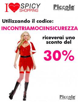 Natale Donna Costume Con Cappuccio - Music Legs
