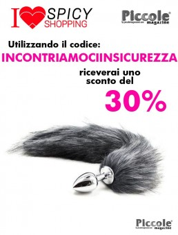 Plug con Coda Plug Anale con Coda Long Fox Tail Grigia - Fetish Art