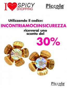 Bigiotteria Donna Orecchino Fiore Con Diamante
