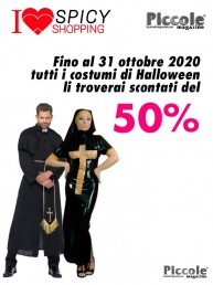 Halloween Coppia - Costume Lucido Da Suora In Lattice & Da Prete