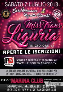 Miss Trans Liguria 2018 Locandina