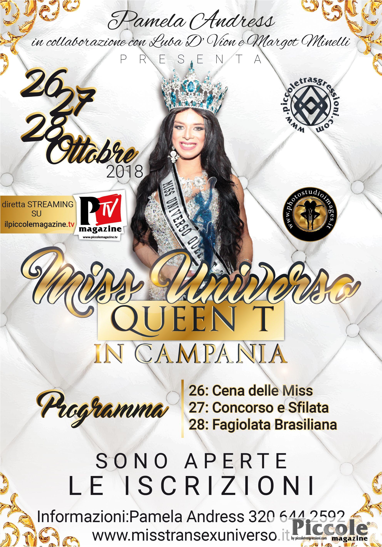 Miss Universo Queen T in Campania 2018