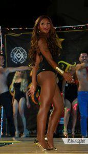 Nikolly Mascarenhas durante la sfilata del miss trans abruzzo 2018