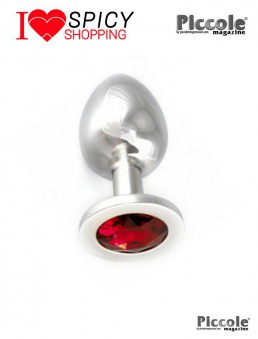 Plug Anale Butt Plug Small With Cristal Red