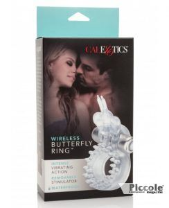WIRELESS BUTTERFLY RING TRANSPARENT - CALIFORNIA EXOTIC NOVELTIES