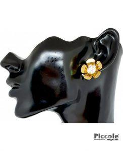 Bigiotteria Donna - Orecchino Fiore con Diamante