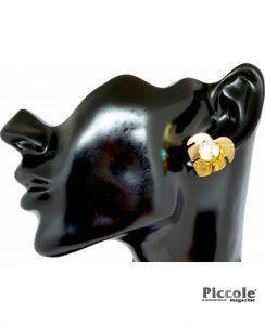 Bigiotteria Donna Orecchino Foglia con Diamante