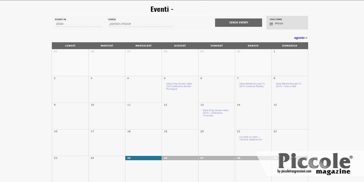 calendario eventi concorsi