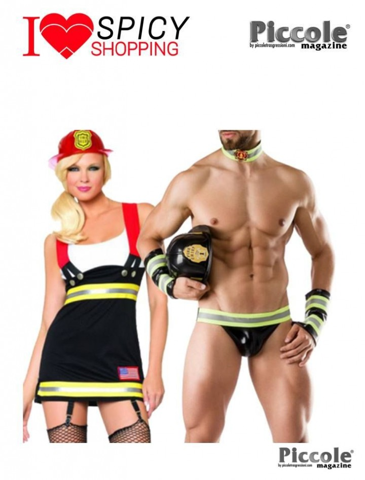 FIREFIGHTER COSTUME MAN ROLEPLAY & DA SEXY POMPIERE