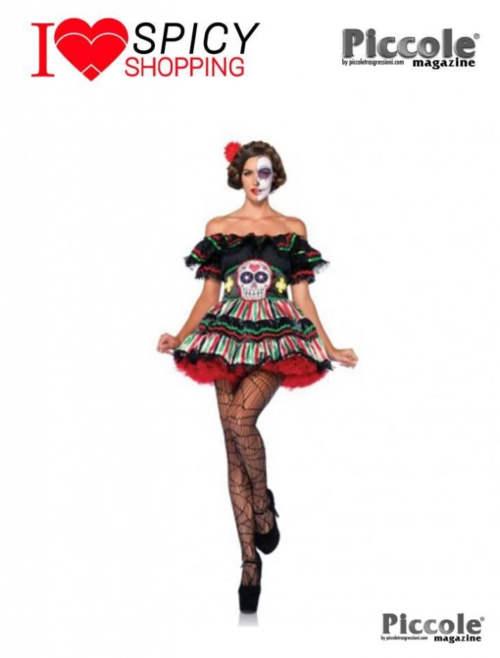 DAY OF THE DEAD DOLL - LEG AVENUE