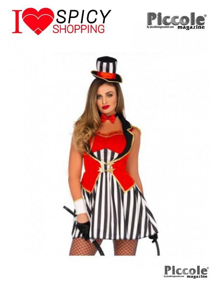Costume di Carnevale Wonderland Circus Ringmaster Dress - Leg Avenue