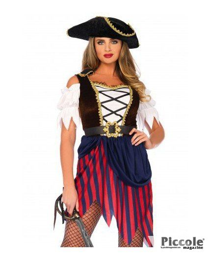 Costume di Carnevale Wonderland Pirate Captain Dress - Leg Avenue