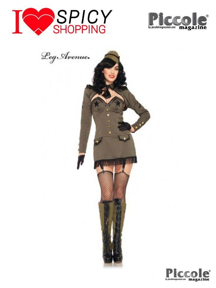 Costume da Soldatessa Pin Up Army Girl