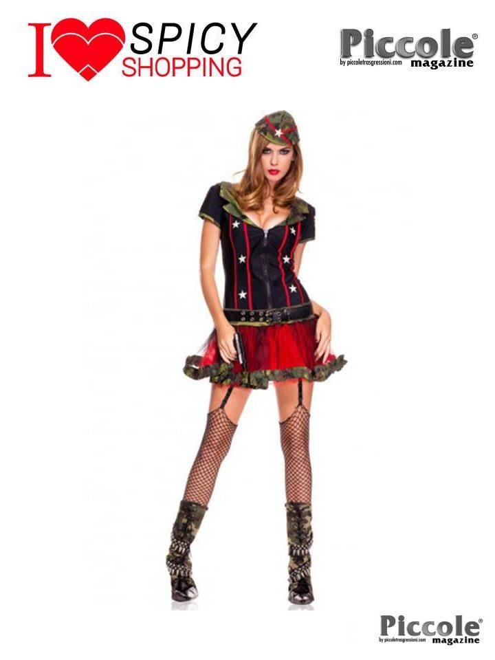 Costume Da Soldatessa Sexy - Frontline Fox – Music Legs