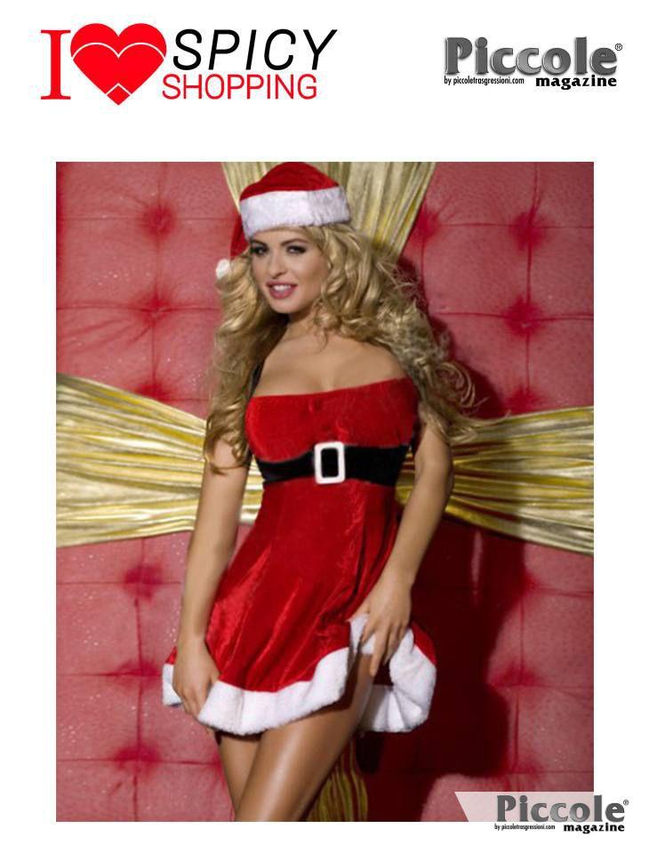 Costume di Natale rosso in velluto - Costume Rosso Di Natale in Velluto