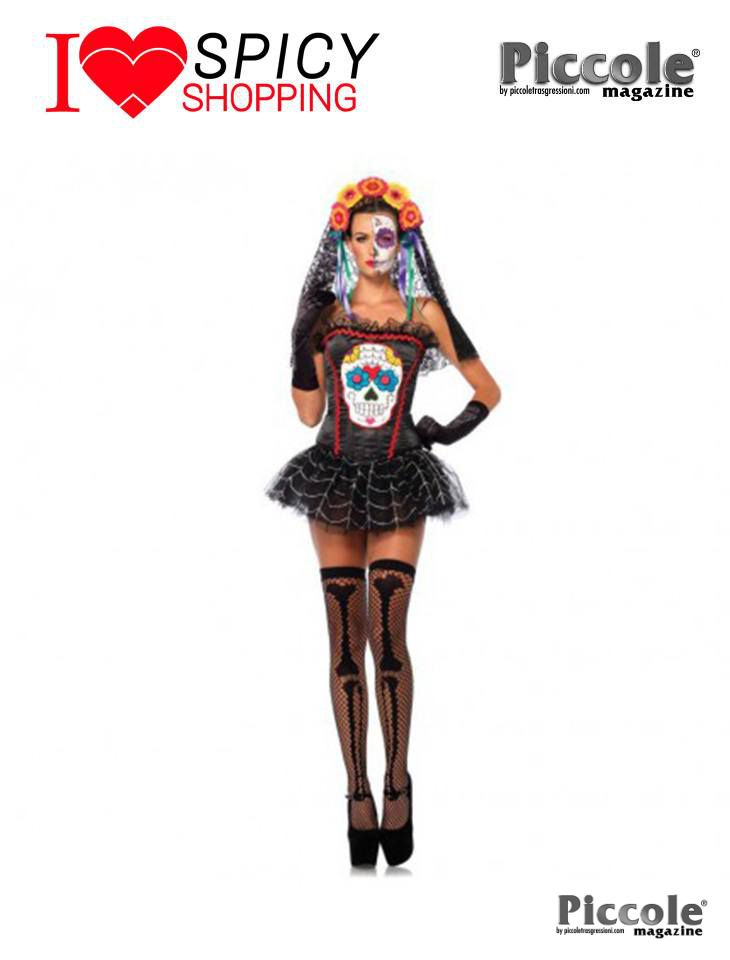 Costume Halloween Donna Sugar Skull Bustier