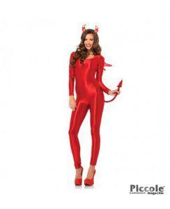 Costume Halloween Rosso Da Diavoletto