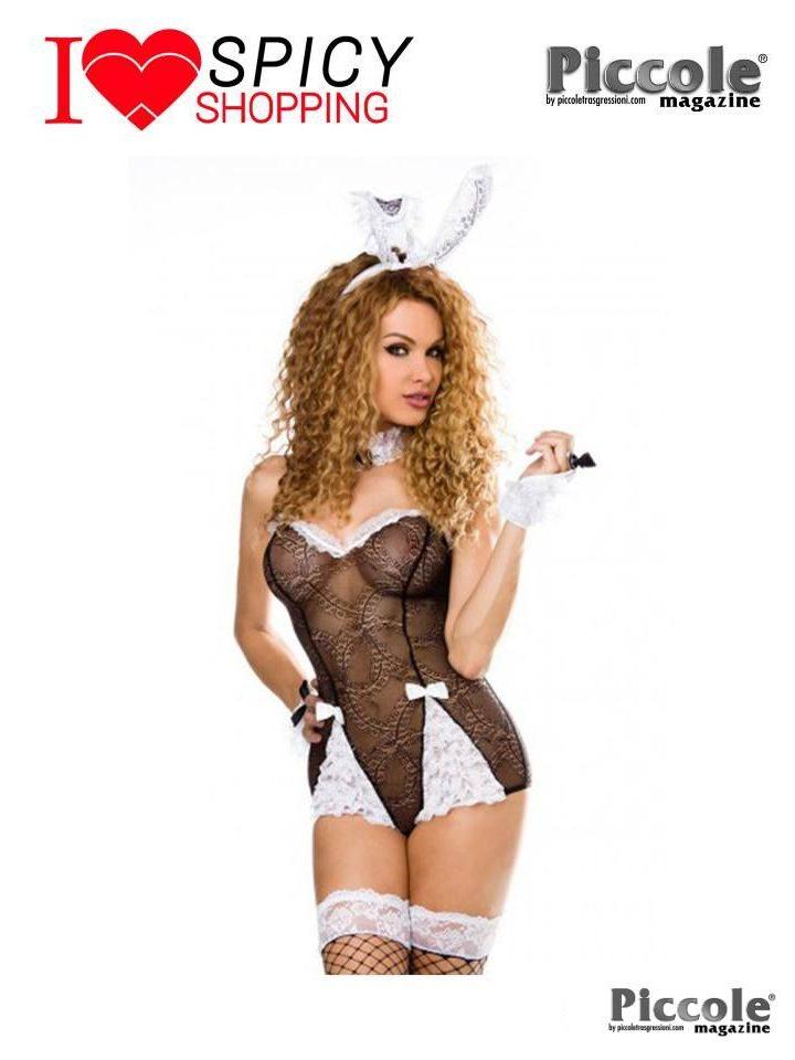 Costume Nero Sexy Da Coniglietta Roleplay – Saresia