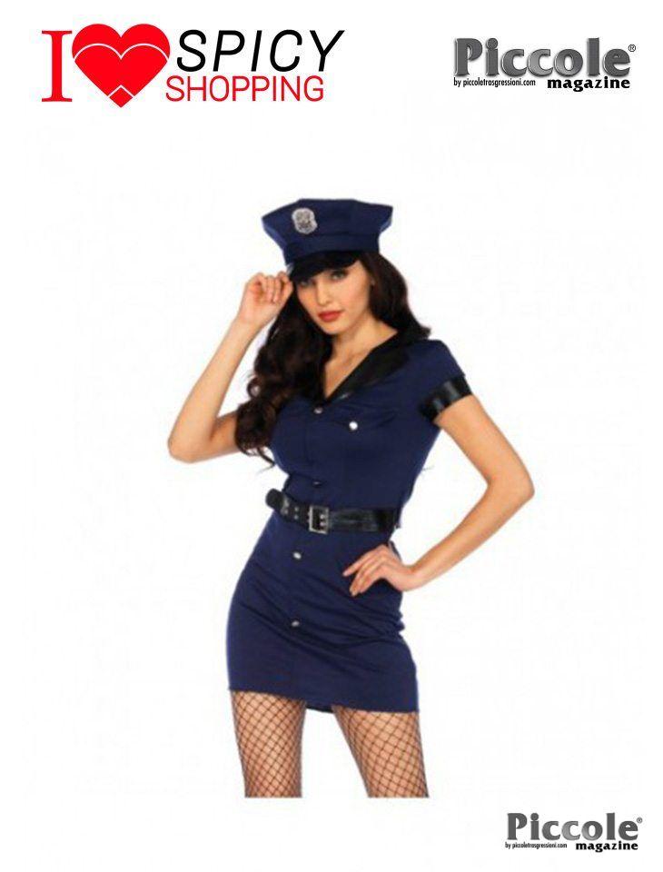 Costume di Carnevale da Poliziotta Wonderland Arresting Officer Dress - Leg Avenue