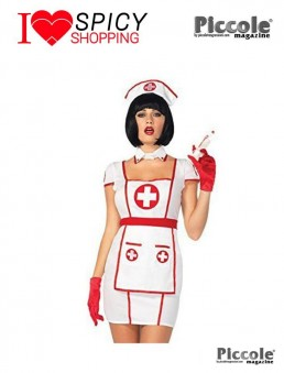 Costume Sexy Di Carnevale Da Infermiera Hospital Heartbreaking Nurse - Leg Avenue