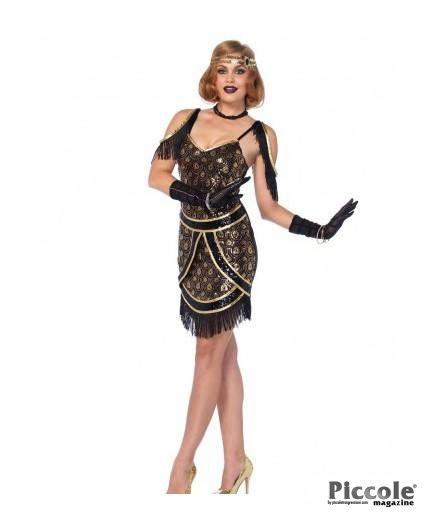 Costume Sexy Di Carnevale Speakeasy Sweetie Nero