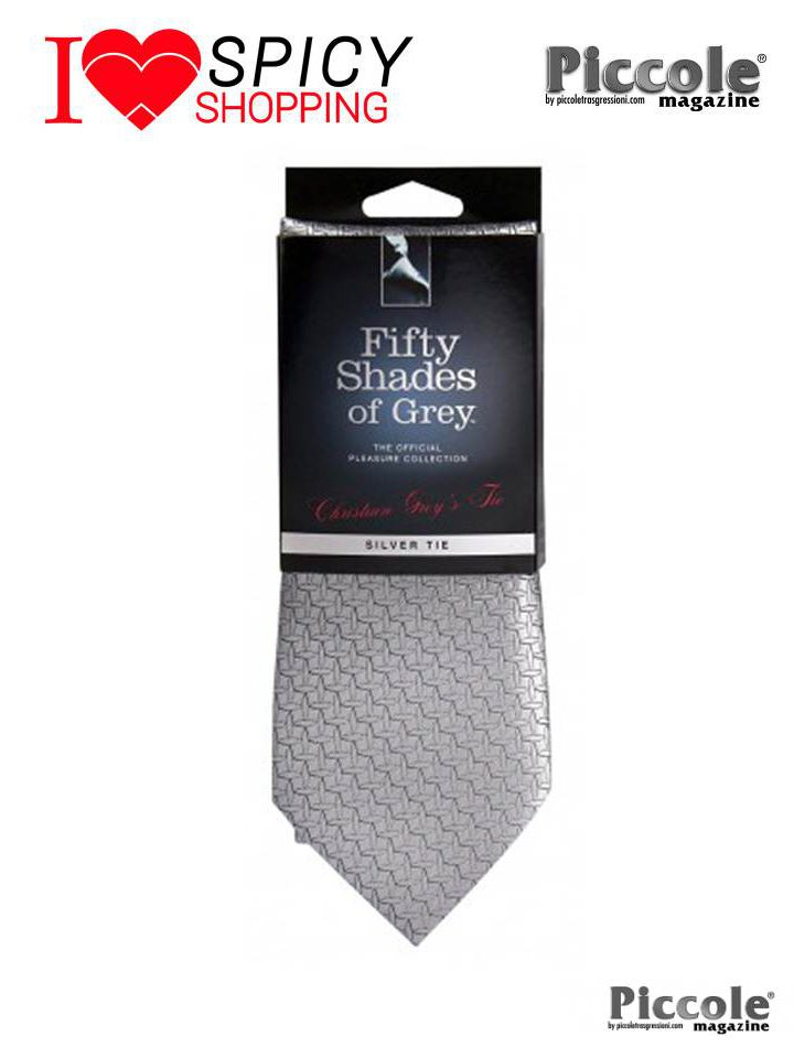 Cravatta raso Fifthy shades of Grey