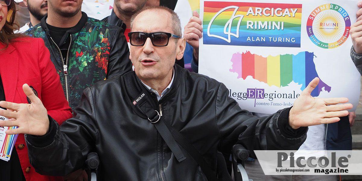 Premiato a Bologna Franco Grillini, padre delle battaglie LGBT