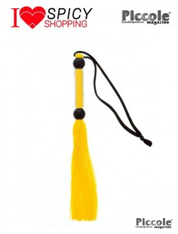 YELLOW SILICONE FLOGGER WHIP - GUILTY PLEASURE