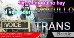 'Libertà, giustizia e democrazia' un pomeriggio con Red Comunitaria Trans de Ecuador