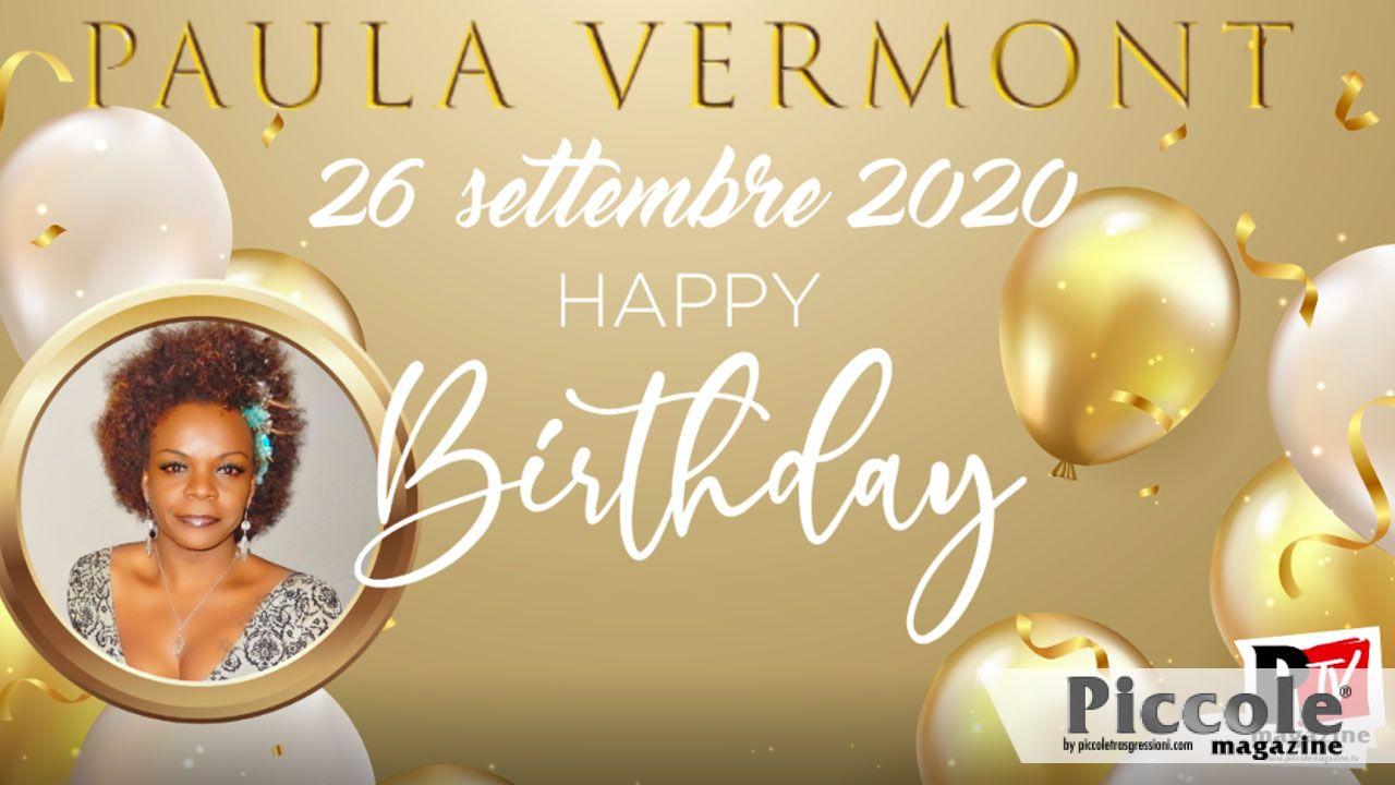Buon compleanno Paula Vermont!