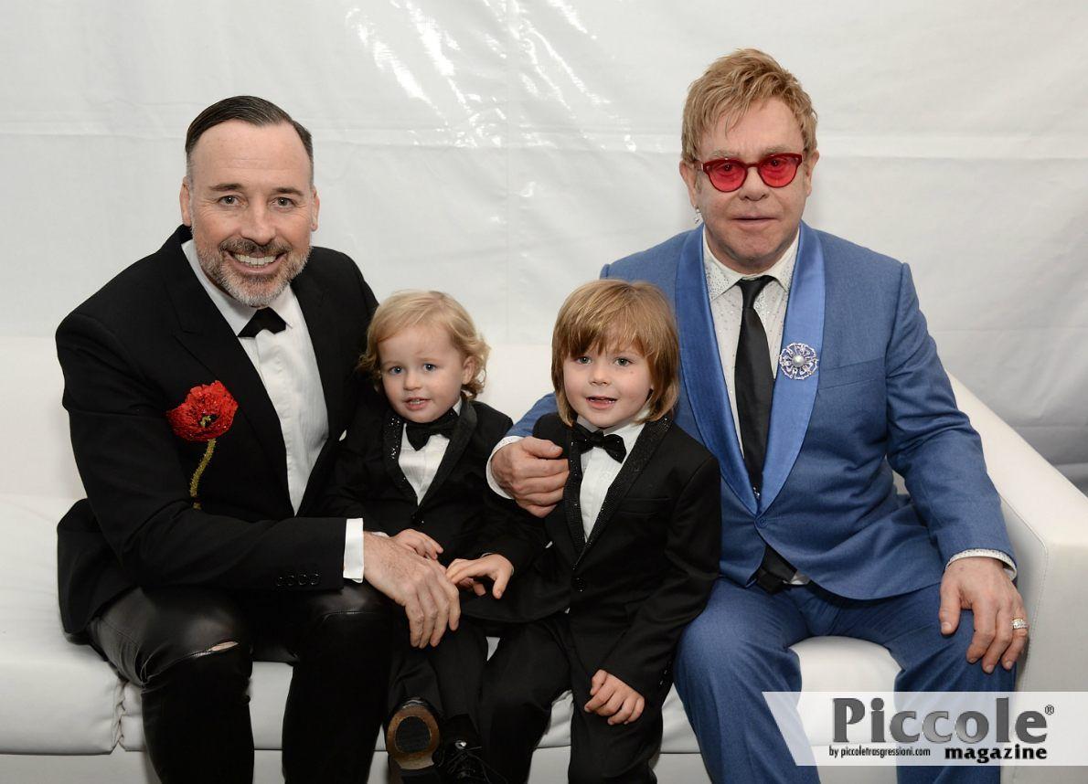 Famiglie arcobaleno: le coppie di papà famosi Elton Jhon e David Furnish