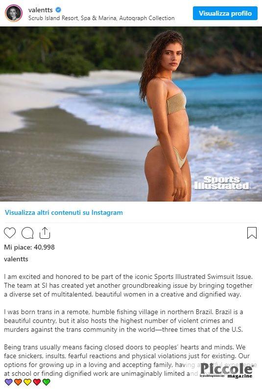 Valentina Sampaio conquista la copertina di Sports Illustrated