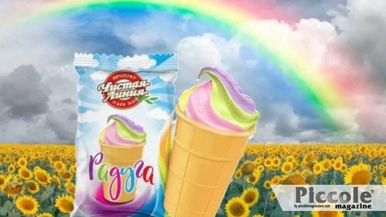 """Russia: gelato arcobaleno accusato di """"propaganda di valori omosessuali"""""""