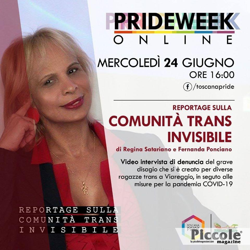 Comunità trans INVISIBILE al Toscana PrideWeek Online