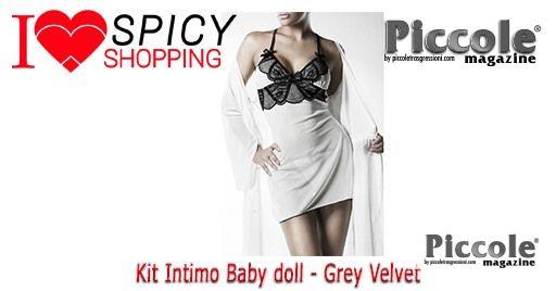 Kit Intimo Baby doll - Grey Velvet