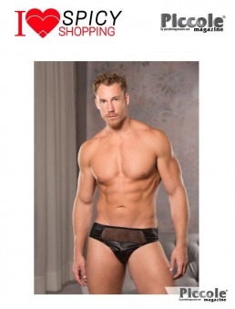 Low Cut Fishnet Briefs Black - Allure